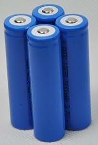 4 Pcs 18650 Li-ion Rechargeable Battery 5000mah for LED Flashlight Torch 3.7v
