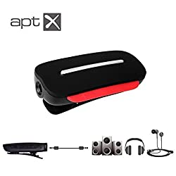 Avantree Clipper, Bluetooth 4.0 aptX audio receiver + headset with stereo output(3.5mm) for Beats, Bose, Sennheiser, Monster, AKG, V Moda, Marshall, PSB and many others of your favorite headphones and speakers, Support 2 Bluetooth devices, With built-in microphone, Apply NO.1 CSR8645 Bluetooth chip, Micro USB charging