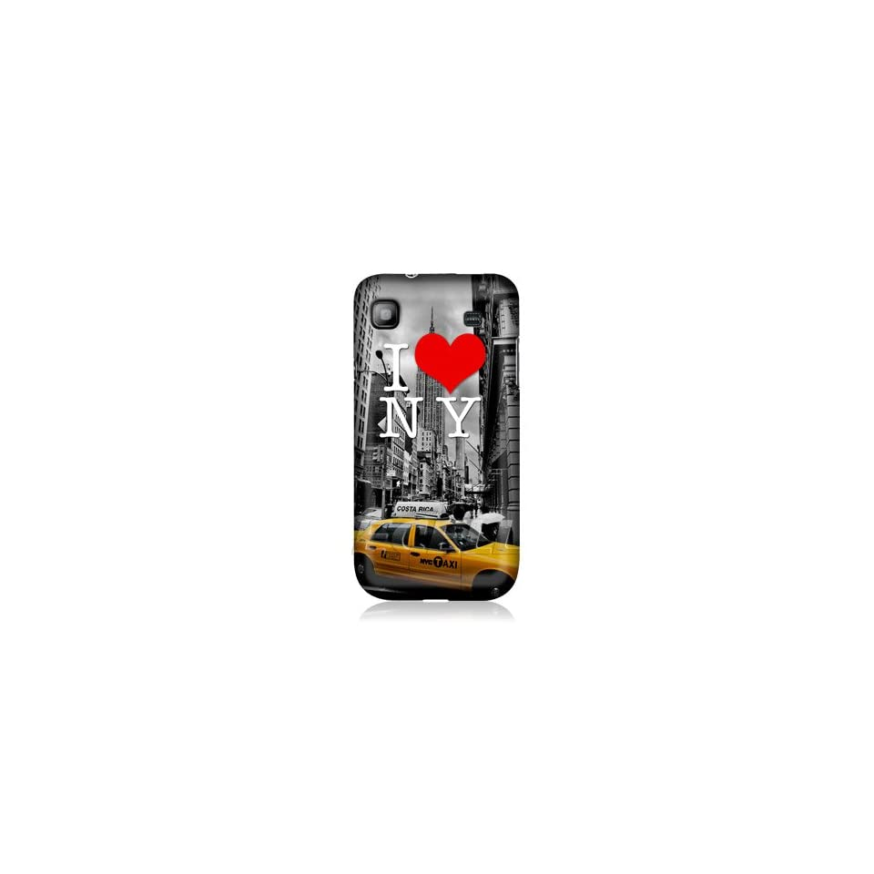 Ecell   HEAD CASE I LOVE NEW YORK YELLOW CAB BACK CASE FOR SAMSUNG GALAXY S I9000 I9001