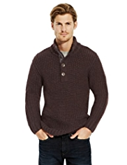 North Coast Funnel Neck Knitted Jumper with Wool