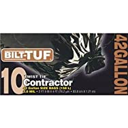 Bilt-Tuf 42 Gallon Black Contractor Trash Bag-42G/10CT CONTRACTOR BAG