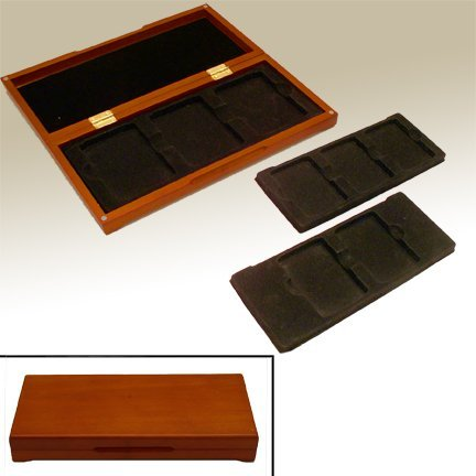 Wood-Display-Box-for-3-or-6-Graded-Coins