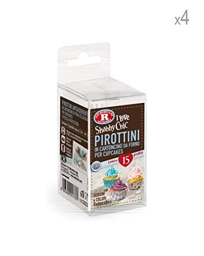 Rebecchi Set 4 Confezioni Pirottini Cartoncino N 3