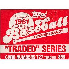 1981 Topps Baseball Traded Series 132 Card Set. Loaded with Great Players Including... by Topps