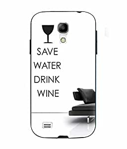 Snazzy Save Water Printed White Soft Silicon Back Cover For Samsung Galaxy S4 Mini