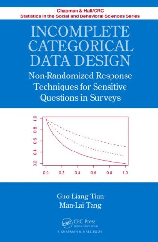 Incomplete Categorical Data Design: Non-Randomized Response Techniques for Sensitive Questions in Surveys (Chapman & Hall/CRC Statistics in the Social and Behavioral Sciences)