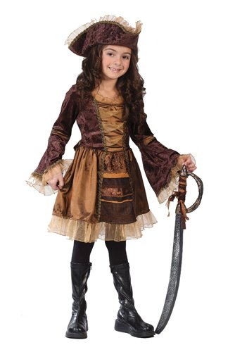 Girls' Sassy Victorian Pirate Costume