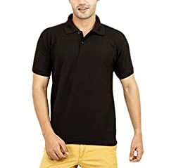 Willmore Men's Cotton Polo (SDL926056761 _Black _Medium)