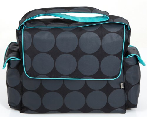 Circle With Turquoise Trim Messenger Diaper Bag