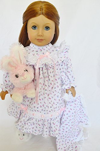 Floral Print Nightgown with Blanket and Slippers