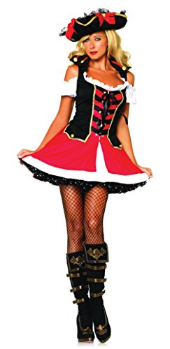 Leg Avenue Womens Aye Aye Admiral Pirate Outfit Fancy Dress Sexy Costume