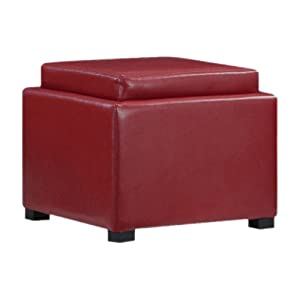 Cube Ottoman Color: Red