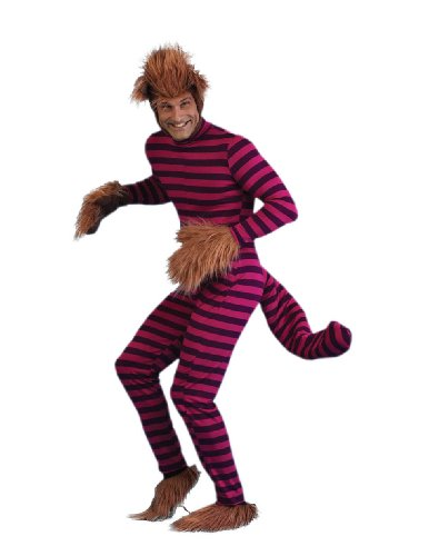 Alice in Wonderland-Cheshire Cat Adult Plus-Size Halloween Costume Size 54 (XXL)