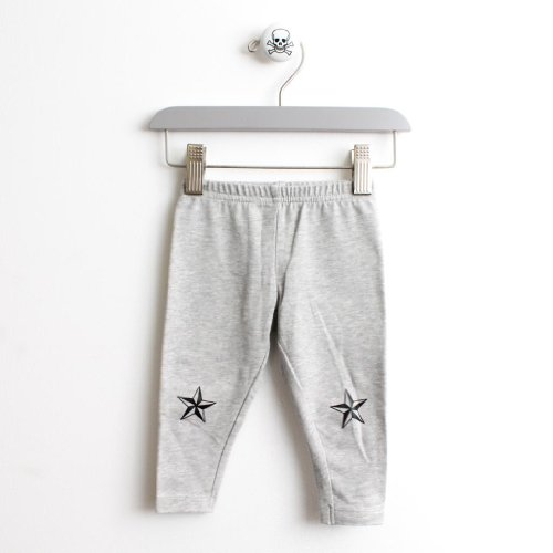 Black Star Leggings in Color Grey