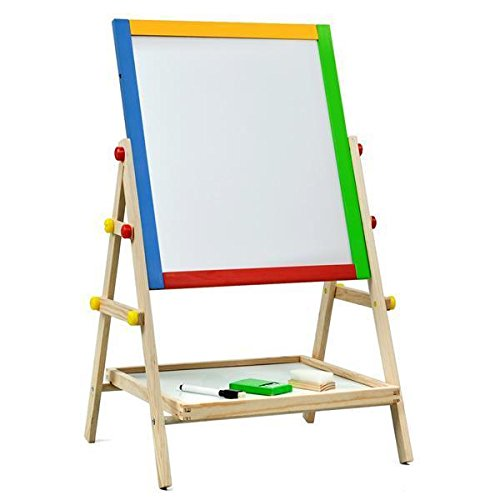 World Pride Double Sided Black/White Kids Drawing Board Artist Easel (21-25.6 x 14.8 x 13.4inch) (Kids Board compare prices)