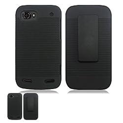 ZTE Warp Sequent N861 Black Hardcore Case Holster