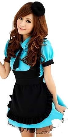 Suosi costume de femme de chambre rose bleu kawaii anime uniforme de bonne - Uniforme femme de chambre ...