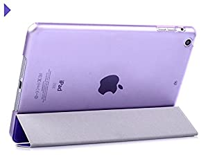 iPad Mini Case /iPad Mini 3/2/1 Case Folio Case Stand Case Smart Cover transparent back (Lavender) by FIRIK