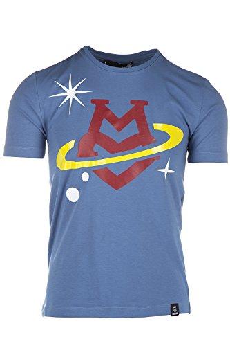 Love Moschino t-shirt maglia maniche corte girocollo uomo azzurro EU M (UK 38) M 4 731 05 E 1514 Y0