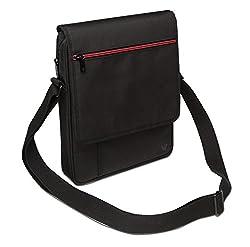 V7 Vertical Messenger Bag for iPads and Tablets Upto 10.1-Inch Black (TD21BLK-1N)