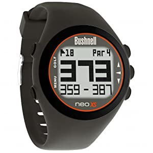 Bushnell NEO XS Golf GPS Rangefinder Watch, Charcoal/Orange
