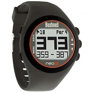 Bushnell NEO XS Golf GPS Rangefinder Watch, Charcoal/Orange