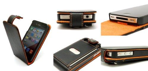 レイアウト iPhone4用フラップタイプレザージャケット_ネイビーRT-P3LC1/N