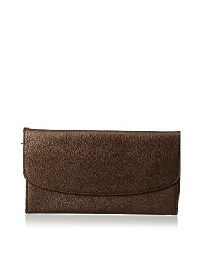 AEON Women's Ticket Holder Clutch, Brown