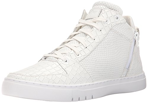 Creative Recreation Men's Adonis Mid Fashion Sneaker, White Crocodile Snake, 9.5 M US