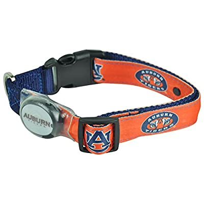 Dog-E-Glow Auburn Tigers Lighted LED Dog Collar, Large, 15-Inch by 21-Inch