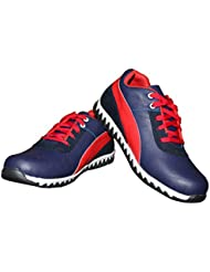 Shoe Rock Vision Men's Blue/Red Synthetic Leatheer Casual Shoes
