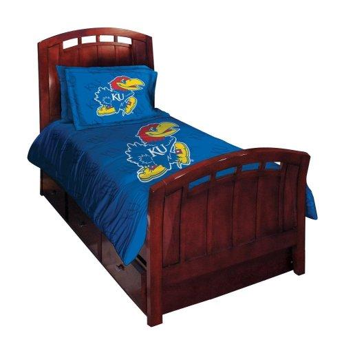 Kansas Jayhawks Twin/Full Comforter with Two Pillow Shams