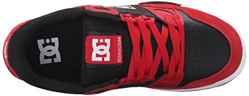 DC Men's Stag 2 Skate Shoe, Red/Black, 12 M US