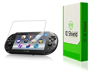IQ Shield LIQuidSkin - Sony PS Vita Screen Protector - High Definition (HD) Ultra Clear Console Smart Film - Premium Protective Screen Guard - Extremely Smooth / Self-Healing / Bubble-Free Shield - Kit comes with Retail Packaging and 100% Lifetime Replace