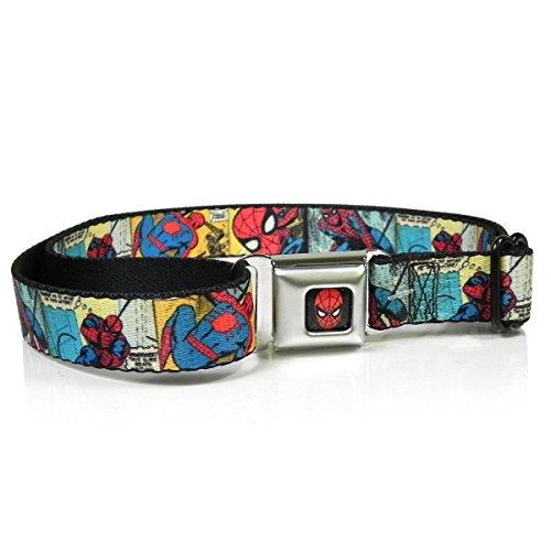 Marvel Amazing Spiderman Seatbelt Belt - Comic Strip Action Blocks