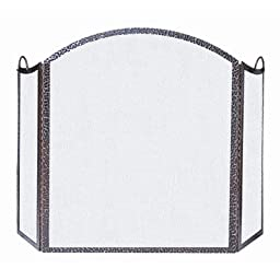 3 Fold Hammered Antique Copper Screen
