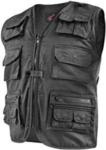 Outdoor Weste Safari mit vielen praktischen Taschen Größe L Farbe Schwarz