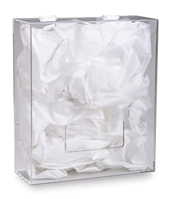 "TrippNT 50151 Clear Acrylic Apparel Dispenser, Medium, 17"" W x 15"" H x 6"" D"