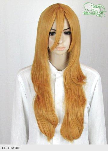 スキップウィッグ 魅せる シャープ 小顔に特化したコスプレアレンジウィッグ フェザーロング ミカン