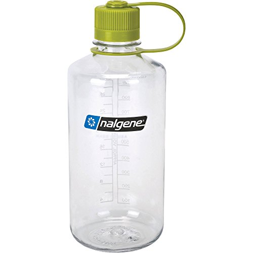 Nalgene Narrow Mouth 1 Qt Clear with Green Lid,32 oz (Nalgene Water Bottle Narrow Mouth compare prices)