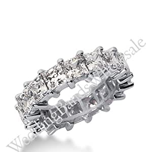 950 Platinum Diamond Eternity Wedding Bands, Shared Prong Setting 7.00 ct. DEB233PLT - Size 10
