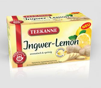 Teekanne Ingwer-Lemon (Ginger-Lemon) / 2X 20 Tea Bags / Fresh + Direct German-Import