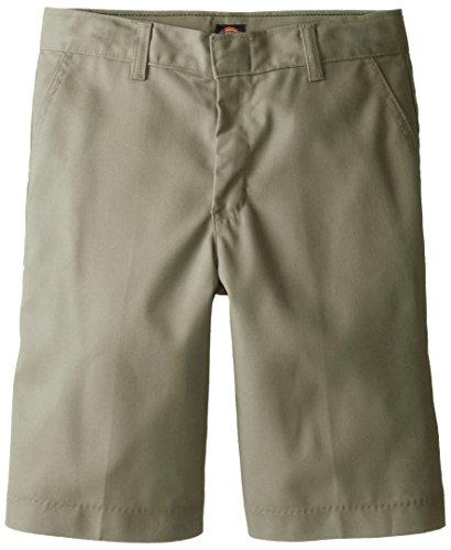 Dickies Big Boys' Flex Waist Flat Front School Uniform Short, Khaki, 8 Regular