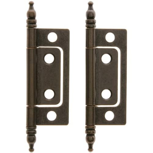 Cabinet Hinge Terminology : Non mortise hinge pair of cabinet hinges in