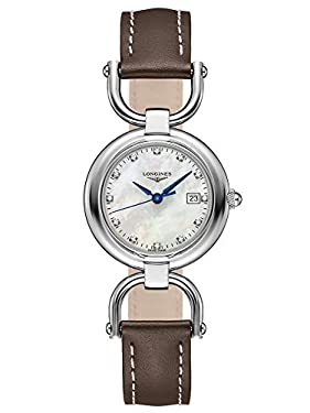 Longines Equestrian Collection - L6.131.4.87.2 - Mother Of Peal Diamond Dial Quartz Women's