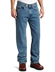 Carhartt Mens Relaxed Straight Denim Five Pocket Jean,Light Vintage Blue,36 x 32