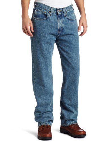Carhartt Men's Relaxed Straight Denim Five Pocket Jean,Light Vintage Blue,36 x 32 (Jeans Blue Light For Men compare prices)