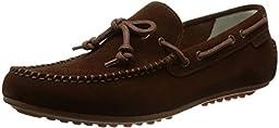 Cole Haan Men\'s Grant LTE Slip-On Loafer, Brown Suede/Gum, 7 M US