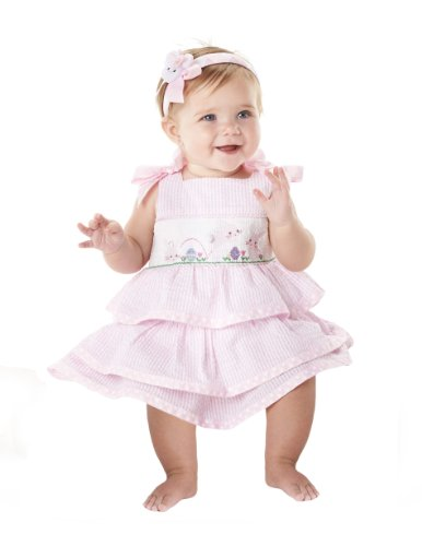 Mud Pie Pink Bunny Dress (3T) front-581869