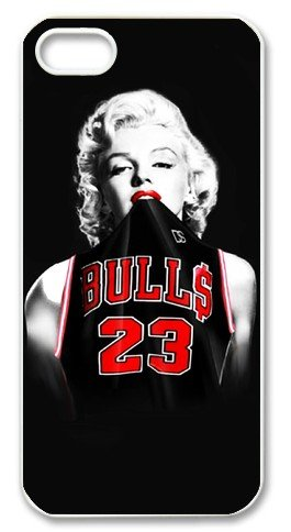Marilyn Monroe Chicago Bulls Michael Jordan Jersey Iphone 5 Slim-fit Case, Best Iphone Case at Luckyshopping Store at Amazon.com